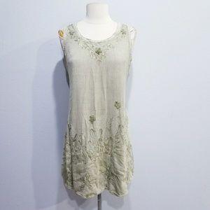 Vintage retro boho India ethnic embroidered dress